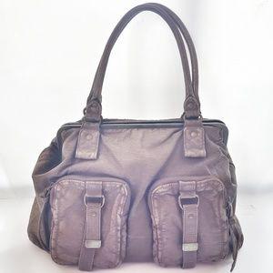 Vintage Converse Distressed Leather Bag Purse